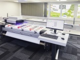 The swissQprint Impala 3 flatbed printer at Zund's state-of-the-art demonstration centre in St Albans.