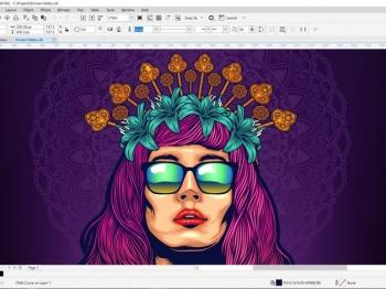 Screenshot of CorelDRAW Graphics Suite 2020