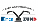 Graphic showing Zund UK and Inca Digital partnership