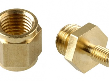 Brass Locator Nuts for installing flat cut letters.