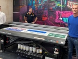 A mimaki JFX-200-3513 EX wide format printer installed at Sign Express.