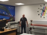 Ad-Venture Sign and Image office after installation by Print Specialists (YPS).