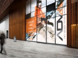 Graphics displayed outside a shop created using printed Polar Choice White monomeric self-adhesive PVC films
