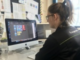 Student working on a mac at Walsall College