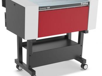The Trotec Speedy 100 Laser engraver.