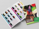 Colour selector brochure from Perspex