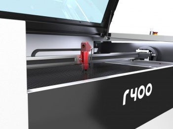 The Trotec R400 laser engraver