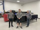 The production team at Magna Signs ltd, Nuneaton, with their new Agfa Anapurna print engine