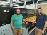 Steve Jackson and business partner Ian Fitzgerald with the Durst P5 at the Digipress premises