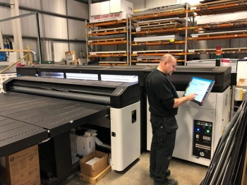 The HP Latex R2000 Plus installed at Designs Signage Solutions