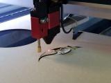 The WID C500 laser cutting/engraving machine.