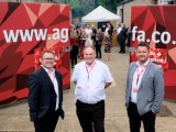 People at the Agfa BBQ at the newly opened facility in Rugby