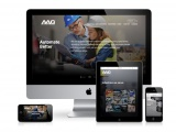 Mobile phone, laptop and tablet showing the new AAG website.